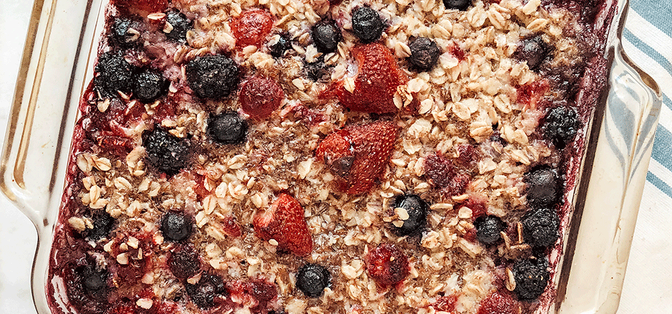 Berry Baked Oatmeal for Increased Milk Supply