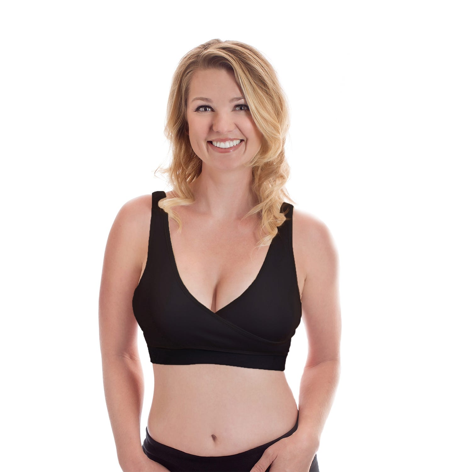 Rumina Classic Pump & Nurse Bra In Black, Size Medium