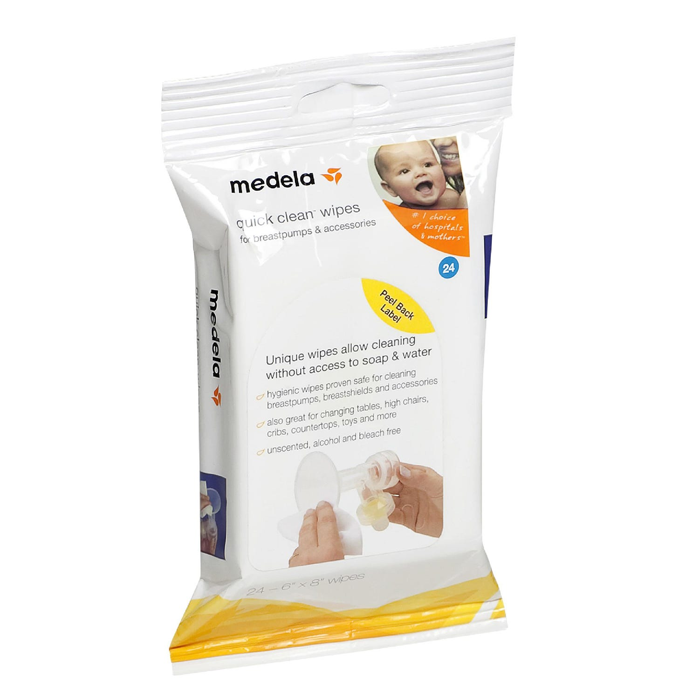 Medela Quick Clean Breast Pump & Accessory Wipes, 40 Ct.