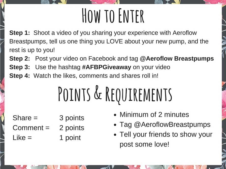 Aeroflow Breastpumps Giveaway Rules